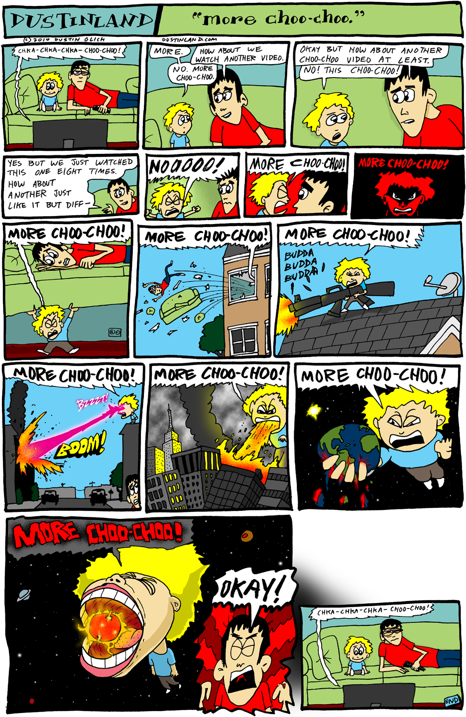 dustinland more choo choo comic